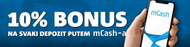 Meridianbet mCash 10% Bonus