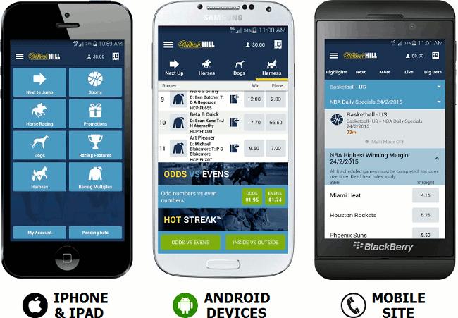 William Hill aplikacija za kladjenje
