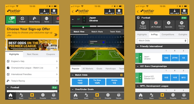 Android version of Betfair app